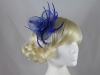 Aurora Collection Swirl and Biots with Diamantes Fascinator in Blue