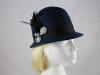 Victoria Ann Wool Hat in Blue
