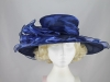 Wide Brimmed Occasion Hat in Blue