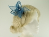Elegance Collection Diamante Clip Fascinator in Bluebell