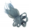 Elegance Collection Loops and Leaves Fascinator in Bluebell