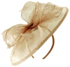 Failsworth Millinery Sinamay Disc Headpiece in Blush-Silver