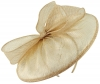 Failsworth Millinery Sinamay Disc in Blush-Silver