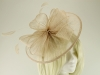 Failsworth Millinery Sinamay Disc Headpiece in Blush