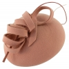 Failsworth Millinery Wool Felt Pillbox in Blush