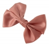 Molly and Rose Faux Satin Hair Bow in Blush