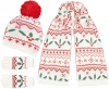 Boardman Holly Bobble Hat with Matching Scarf and Gloves