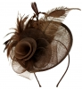 Aurora Collection Rose and Feather Disc in Brown