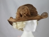 Collapsible Wedding Hat in Brown