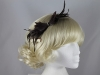 Failsworth Millinery Small Feather Fascinator in Brown