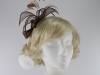 Hawkins Collection Sinamay Leaves Fascinator in Brown