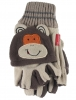 Jiglz Fleece Shooter Mits in Brown