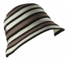 Victoria Ann Striped Winter Hat in Brown