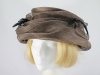 Unnamed Brown and Black Formal Hat