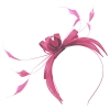 Failsworth Millinery Sinamay Fascinator in Bubblegum