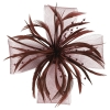 Aurora Collection Biots and Beads Fascinator in Burgundy