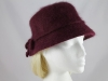 Bow Winter Hat in Burgundy