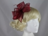 Molly and Rose Organza Fascinator in Burgundy