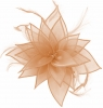 Failsworth Millinery Organza Leaves Fascinator in Cameo