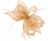Failsworth Millinery Sinamay Diamante Clip Fascinator in Cameo