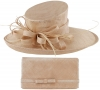 Max and Ellie Events Hat with Matching Large Occasion Bag in Candy