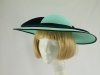 Cappelli Condici Pale Turquoise and Navy Events Hat