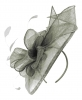 Failsworth Millinery Sinamay Headpiece in Carbon-Silver