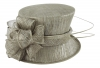 Failsworth Millinery Wedding Hat in Carbon-Silver