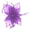 Failsworth Millinery Diamante Organza Fascinator in Cassis