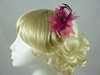 Feather Flower Fascinator in Pink / Cerise
