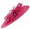 Failsworth Millinery Events Feathers Disc in Cerise
