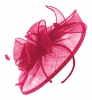Failsworth Millinery Sinamay Headpiece in Cerise