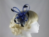 Fascinator with Loops and Feathers in Cobalt