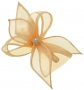 Elegance Collection Diamante Clip Fascinator in Chalk
