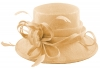 Elegance Collection Sinamay Loops Wedding Hat in Chalk