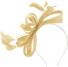 Failsworth Millinery Sinamay Loops Fascinator in Champagne