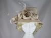 Hawkins Collection Short Down Brim Wedding Hat in Champagne