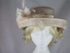Hawkins Collection Upbrim Wedding Hat in Champagne