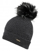Alice Hannah Knitted Bobble Ski Hat in Charcoal