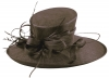 Elegance Collection Ascot Hat in Chocolate