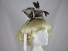 Elegance Collection Sinamay Leaves Fascinator in Chocolate & Ivory