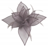 Failsworth Millinery Organza Petals Fascinator in Cinder