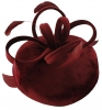 Failsworth Millinery Velvet Loops Pillbox in Claret