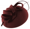 Failsworth Millinery Wool Felt Pillbox in Claret