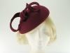 Failsworth Millinery Wool Felt Pillbox Headpiece in Claret