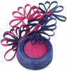 Failsworth Millinery Events Pillbox Headpiece in Cobalt & Fandango