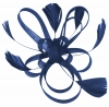Aurora Collection Fascinator with Loops and Feathers in Cobalt