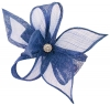 Elegance Collection Diamante Clip Fascinator in Cobalt