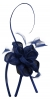 Elegance Collection Flower and Quill Headpiece in Cobalt