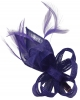 Elegance Collection Loops and Leaves Fascinator in Cobalt